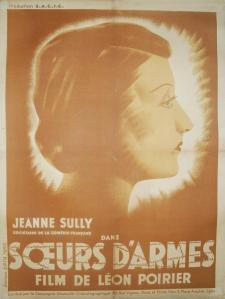 SOEURS D'ARMES Jeanne Sully - Affiche film 1939