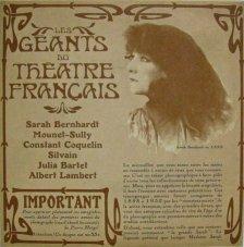 LES GEANTS DU THEATRE FRANÇAIS - Sarah Bernhardt, Mounet-Sully, Jeanne Sully 33 tours