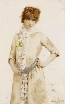 Sarah BERNHARDT - Portrait par Marie BESSON (1886)