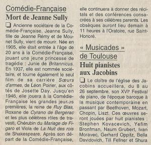 FIGARO Jeanne SULLY 04-07-1995