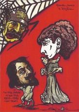 MOUNET-SULLY & SARAH BERNHARDT - Caricature par Jihel