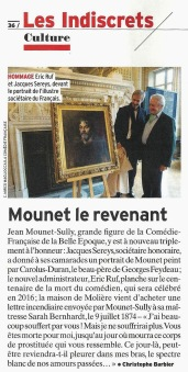 L'EXPRESS - Mounet-Sully, don de Jacques Sereys 29-10-2014