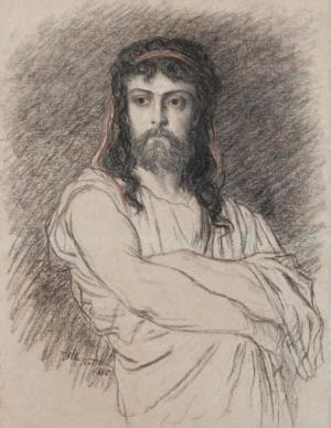 MOUNET-SULLY - Rôle de Polyeucte - Portrait par Ernest Hébert - 1880 © Musée Hébert
