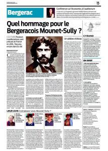 Bergerac : Quel hommage pour le tragédien Mounet-Sully ? © Sudouest 2015