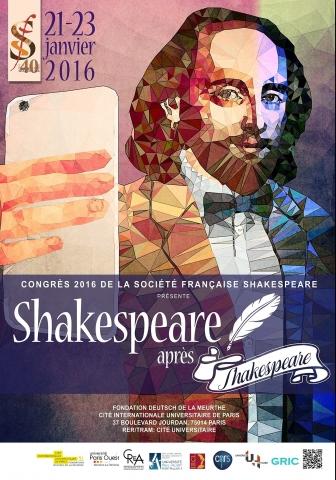 Congrès Shakespeare après Shakespeare (2016)