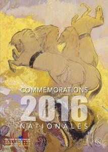 COMMEMORATIONS NATIONALES - Couverture Recueil 2016