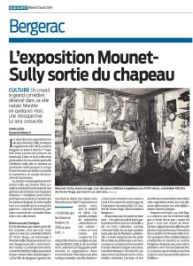 Bergerac : l'exposition Mounet-Sully sortie du chapeau © Sudouest 2016