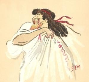 Mounet-Sully, caricature par Sem
